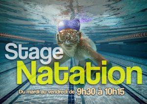Affiche stage natation à Montpellier